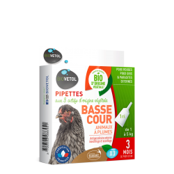 Pipettes antiparasitaires animal basse-cour